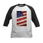 Abstract American Flag Baseball Jersey