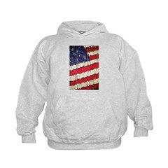 Abstract American Flag Hoodie