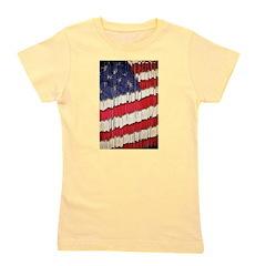 Abstract American Flag Girl's Tee
