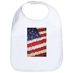 Abstract American Flag Bib