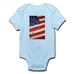Abstract American Flag Body Suit