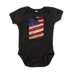 Abstract American Flag Baby Bodysuit