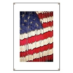 Abstract American Flag Banner