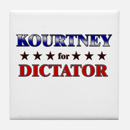 KOURTNEY for dictator Tile Coaster