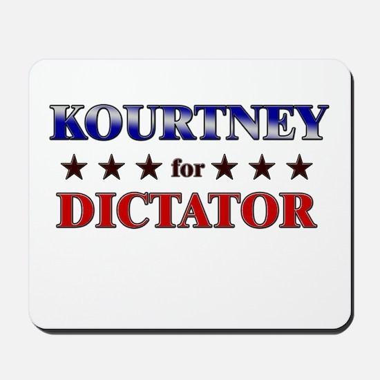 KOURTNEY for dictator Mousepad