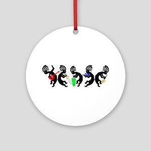 Kokopelli Band Ornament (Round)