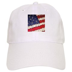Abstract American Flag Baseball Baseball Cap