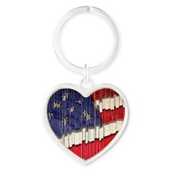 Abstract American Flag Keychains