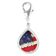 Abstract American Flag Charms