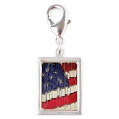 Abstract American Flag Charms