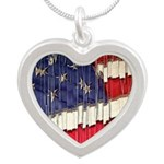 Abstract American Flag Necklaces