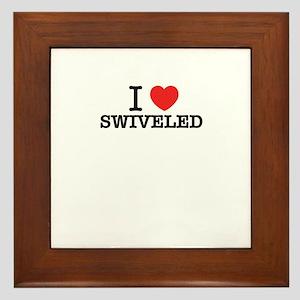 I Love SWIVELED Framed Tile