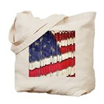 Abstract American Flag Tote Bag