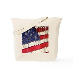 Abstract American Flag Tote Bag