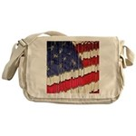 Abstract American Flag Messenger Bag