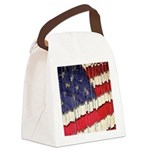 Abstract American Flag Canvas Lunch Bag