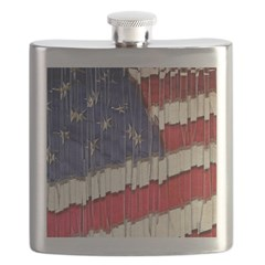 Abstract American Flag Flask