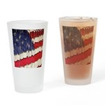 Abstract American Flag Drinking Glass
