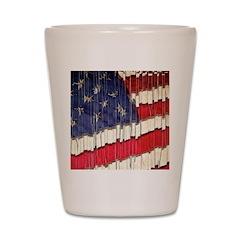 Abstract American Flag Shot Glass
