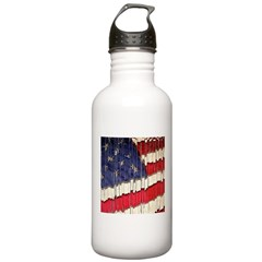 Abstract American Flag Water Bottle