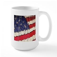 Abstract American Flag Mugs