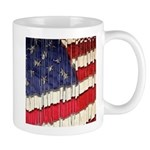 Abstract American Flag Mugs