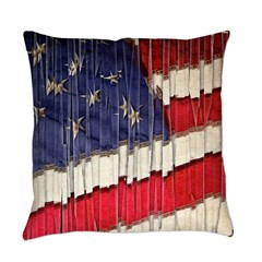 Abstract American Flag Everyday Pillow