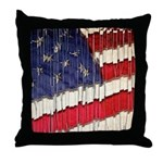 Abstract American Flag Throw Pillow