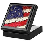 Abstract American Flag Keepsake Box