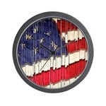 Abstract American Flag Wall Clock