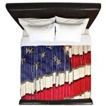 Abstract American Flag King Duvet