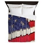 Abstract American Flag Queen Duvet