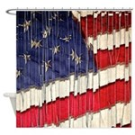 Abstract American Flag Shower Curtain