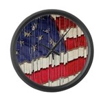 Abstract American Flag Large Wall Clock