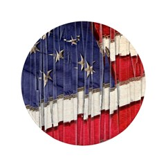 Abstract American Flag Button