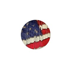 Abstract American Flag Mini Button