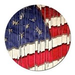 Abstract American Flag Round Car Magnet