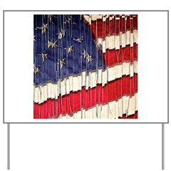 Abstract American Flag Yard Sign
