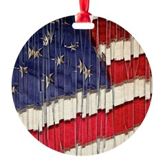 Abstract American Flag Ornament