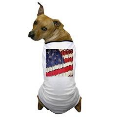 Abstract American Flag Dog T-Shirt