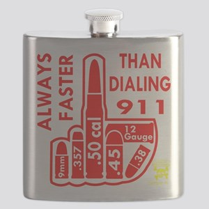 Faster Than Dialing 911 Flask
