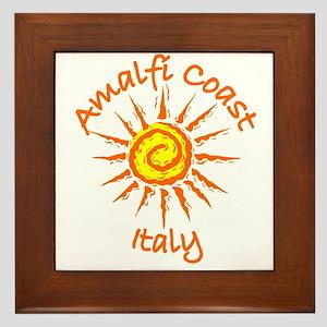 Amalfi Coast, Italy Framed Tile