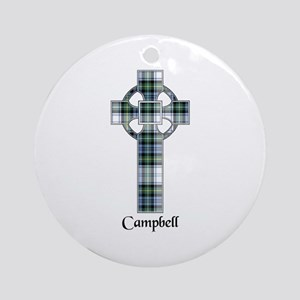 Cross-Campbell dress Round Ornament