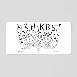 Spouting Letters Aluminum License Plate
