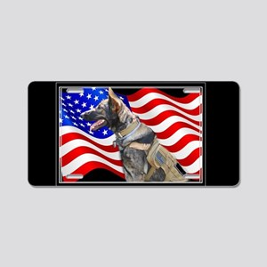 Veteran German Shepherd Dog Aluminum License Plate