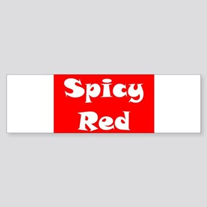 Spicy Red Logo Bumper Sticker