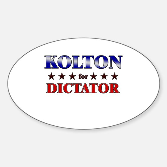 KOLTON for dictator Oval Decal