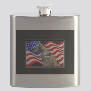 Veteran German Shepherd Dog Flask