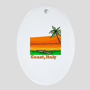 Amalfi Coast, Italy Oval Ornament