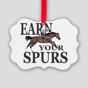 Earn Your Spurs Picture Ornament